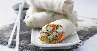 Recette de rouleaux de printemps vietnamiens au concombre et au poulet pour un apero dinatoire